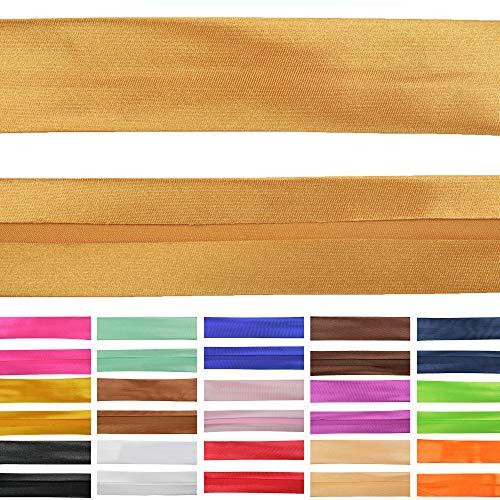Roban Fashion Satin Schrägband 30mm breit Textilband Blende in 26 Farben