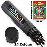 Lebacq 24 Buntstifte Set für Kinder und Erwachsene - Schwarzholz Farbstifte