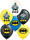 "Vision Batman 12"" Party Balloons 30 Pcs, Assorted Colors Premium Latex"