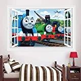 AMWFF - Adesivo da parete 3D, motivo: Thomas Train