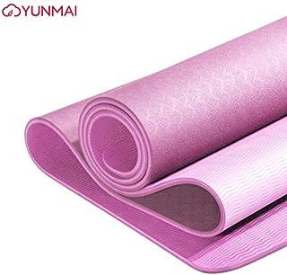 YUNMAI TPE Esterilla Yoga Insípido con Bolsa 6mm Alfombrillas de Pilates Antideslizantes de Doble Cara Entrenamiento respetuosas con el Medio Ambiente Gimnasio Fuera de casa 183 X 61 X 0.6