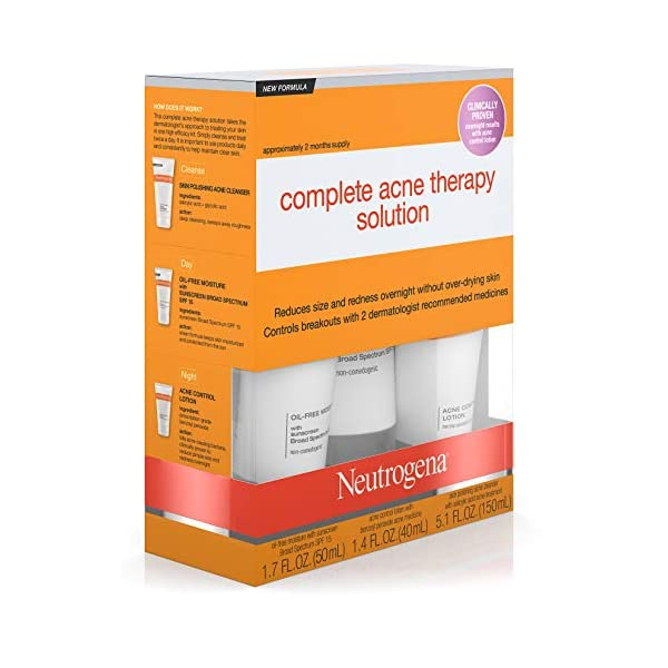 Acne treatment products Neutrogena Complete Acne Therapy System