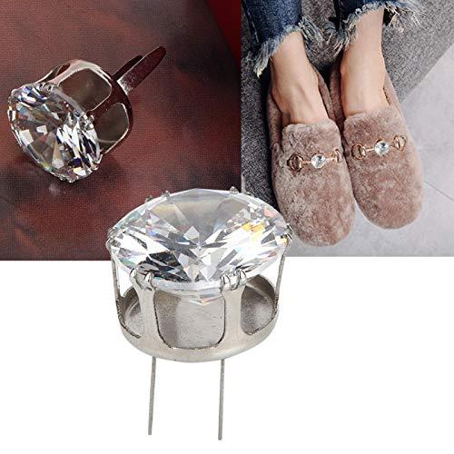 Hebilla de diamante, circonita redonda, circonita, plata para apreciación, vestidos, zapatos para decoración, ropa(Silver)