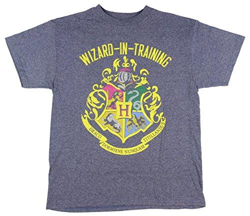 Harry Potter Boys Wizard in Training Tee (Navy,Small)