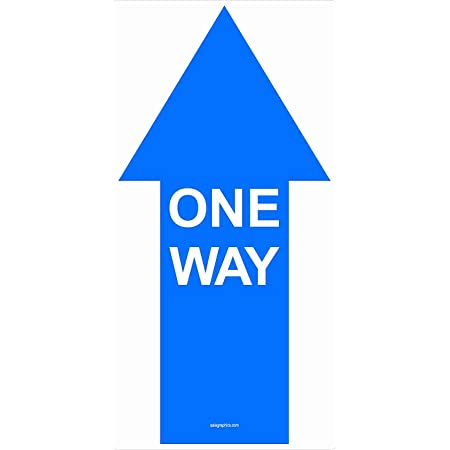 for Tile 9.2x9.2 Arrow 10 Pack Peel /& Stick Floor Stickers Great for All Uses One Way Please Directional Signage COVID-19 Safety Concrete /& Industrial Carpet