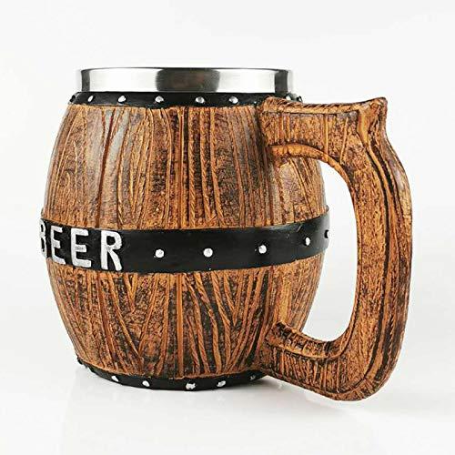 Molde De Resina Taza De Cerveza De Madera De Roble con Tanque Interior De Acero Inoxidable De 20 Oz Taza De Cerveza Barra De Cocina Vasos