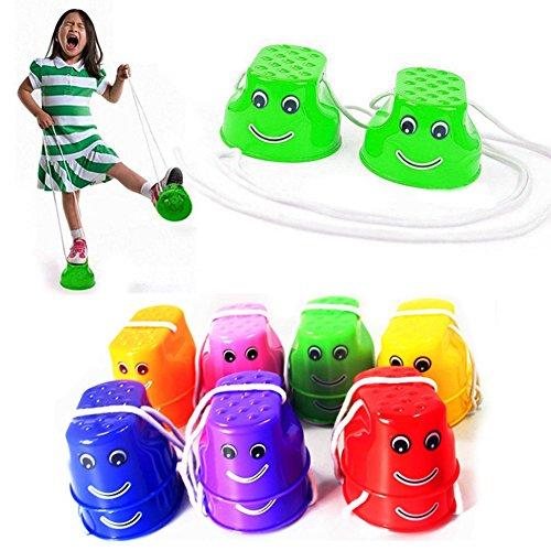 Kentop - Juego de 2 asientos infantiles para gimnasia, color aleatorio
