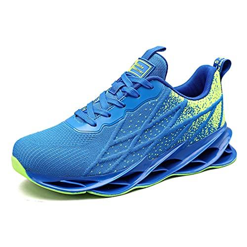 Uomo Donna Scarpe da Ginnastica Sportive Sneakers Running Respirabile Fitness Leggero Outdoor Basse Corsa Casual Walking Moda bluegreen41