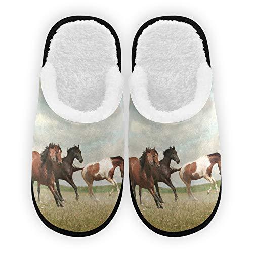 Zapatillas para hombre y mujer, con forro de felpa, cómodo forro polar coral cálido para mujer, para interior y exterior