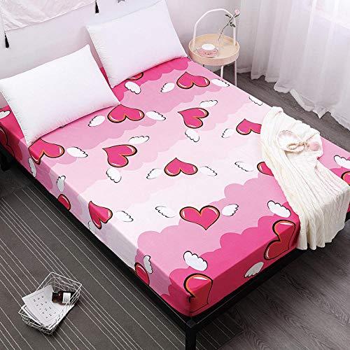 DSman Protector de colchón de Rizo algodón y Transpirable Impresión de sábanas a Prueba de Agua y a Prueba de Polvo -30_80cmX200cmX30cm