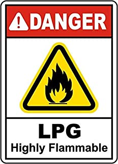 Home Decoration,12×16inch Novelty Warning Sign Warning PlaqueDanger LPG Highly Flammable Sign,Wall Decoration Painting Tin Sign