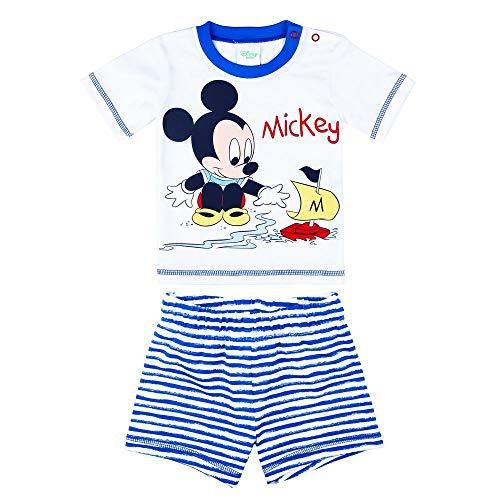 Disney jongens Mickey Mouse set, T-shirt, shorts, korte broek, donkerblauw