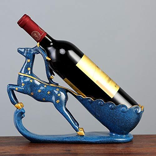 Decorazione Domestica Home Finestra Armadi for Vino Soggiorno Studio Ornamenti Ornamenti Artigianali in Resina Splendidi portabottiglie Accessori per la casa (Design : A)