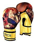 ISLERO Kids Boxing Gloves MMA GEL Punch Bag Muay Thai Martial art Training 4oz 6Oz 8Oz (4 Oz)
