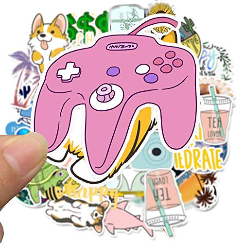 Mai Zi Stickers for Water Bottles 50 pcs Laptop Stickers Vsco Stickers Pack Cute Aesthetics Stickers for Teens Girls Boys