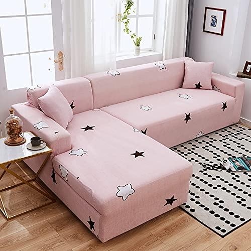 ASCV Funda de sofá elástica, Utilizada para la decoración de la Sala de Estar, Funda de sofá de impresión, Suave, Universal, Funda elástica de sección Transversal A5 4 plazas