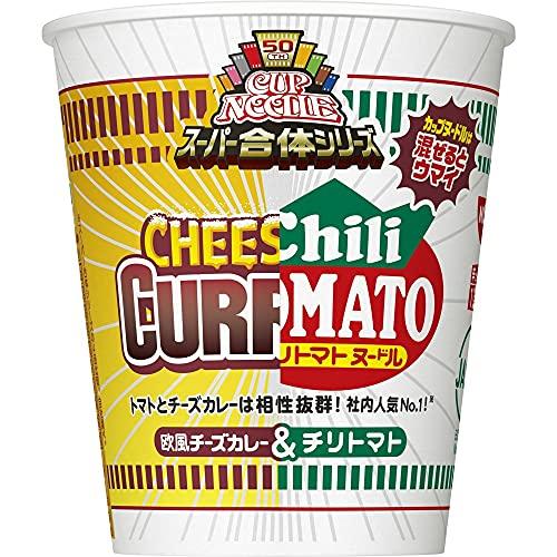 日清食品 カップヌードル スーパー合体シリーズ チリトマト&欧風チーズカレー 79g×20個