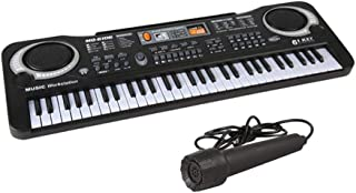 Numeo Portable 61-Key Electronic Organ with Microphone Simulated Keyboard,Music Piano Toy,Musical Instrument Toy for Begin...