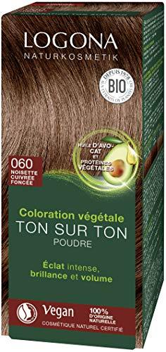 Logona Herbal Hair Color Powder, 060 Nut Brown 33312