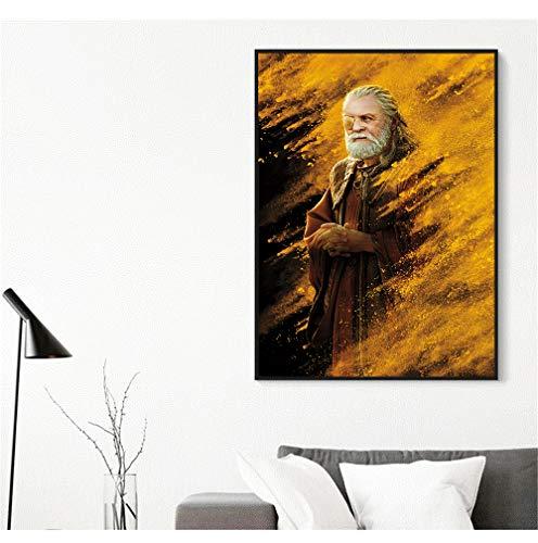 hetingyue Rahmenlose Celebrity Master Poster Wand Wohnzimmer abstrakte Grafik Wandbild 40 x 60 cm