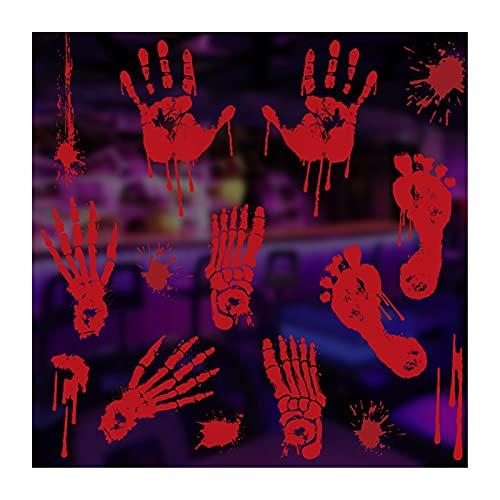 Rainao Adhesivo decorativo para ventana de Halloween, para fiestas de Halloween