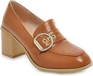BalaMasa Womens APL11716 Pu Block Heels