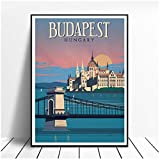 Vintage Budapest Ungarn Malerei Leinwand Poster Wandkunst