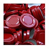 50 Stück X to 53 mm Rot Schraubdeckel für Gläser • Twist Off Deckel Verschluss Ø 53mm • Ersatzdeckel To53 • 25,50,100,150,200,250,500 Stück • Große Auswahl Verschiedene Größen und Farben