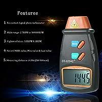 KKMOON Handheld Digital Photo Tachometer Non-Contact Tach Range 2.5RPM-99,999RPM LCD Display Motor Speed Meter