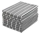 Gryeer 8er-Set Microfaser Geschirrtücher, saugfähiges und fusselfreies Küchentücher, Reinigungstücher für Glas, Fenster, Edelstahl, 65x45cm, Grau