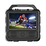 Monster Vision | Portable Video Entertainment System, 50 Watts, 15.6' TV Monitor, Up to 25 Hours Playtime, Remote Control included, ATSC Antenna, IPX4 Water Resistant