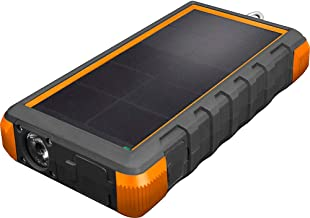 ToughTested Solar Charger – 24000mAh Portable Solar Powerbank with LED Flashlight - IP67 Dustproof/Shockproof/Rainproof - High Efficiency Solar Panel Smartphone Charger