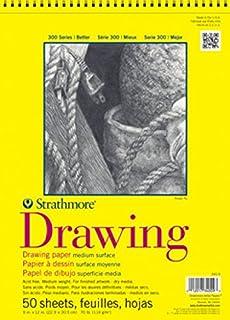 "Strathmore 300 Series Drawing Pad, Medium Surface, 11""x14"" Glue Bound, 50 Sheets"