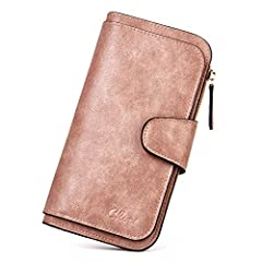 [MAIN MATERIAL]: This wallet is made of high quality Oil wax two-toned PU leather, which is vintage and fashionable. [INTERNAL STRUCTURE]: 3 Bill Slots + 2 Cash Slots + 1 Interior Zipper Pocket + 2 Photo Slots + 14 Card Slots. Practical multi slots w...