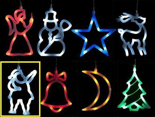 MQ raamdecoratie led-verlichting kerstman kerstverlichting silhouet decoratie