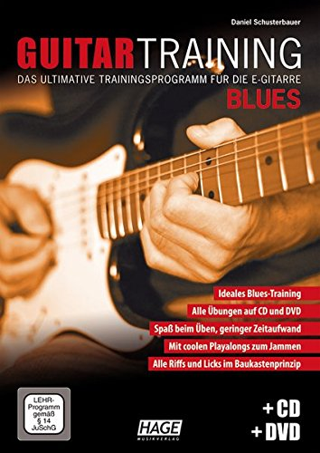 Edition Hage Guitar Training Blues: Das ultimative Trainingsprogramm für die E-Gitarre