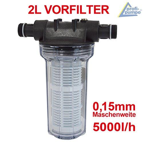 Filter VORFILTER Pumpenfilter 2L für HAUSWASSERWERK HAUSWASSERAUTOMAT KREISELPUMPE JETPUMPE BRUNNENPUMPE PUMPE TAUCHPUMPE FEINFILTERUNG bei WASCHMASCHINEN, SCHALTGERÄTEN, KREISELPUMPEN