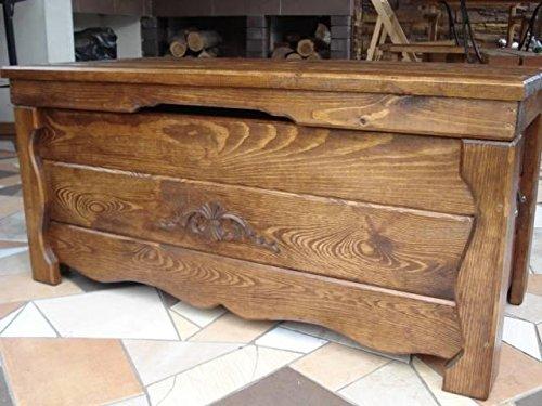 Unbekannt Massive Handgemachte Holzkiste Truhe Box Holz Aufbewahrung Antik Dekoration BA1