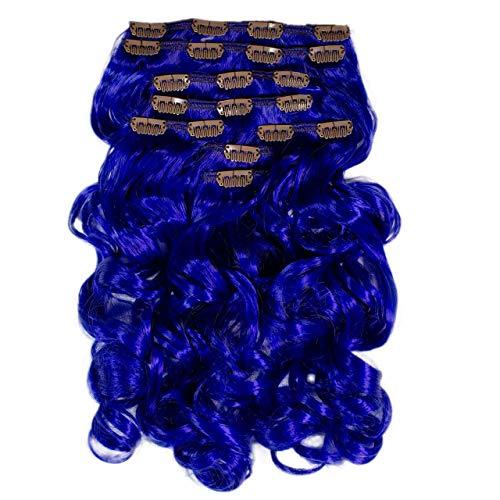 hair2heart Gewellte Clip In Extensions aus Kunsthaar, 130g - 8-teilig, 60cm - Farbe #105
