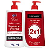 Neutrogena Loción Corporal Reparación Intensa, Piel Seca, 2x750ml