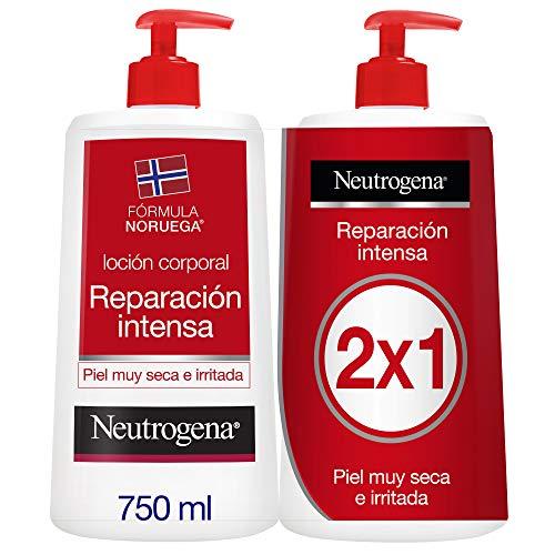 Neutrogena Crema Hidratante Corporal, Reparación Intensa, Pack 2 x 750 ml