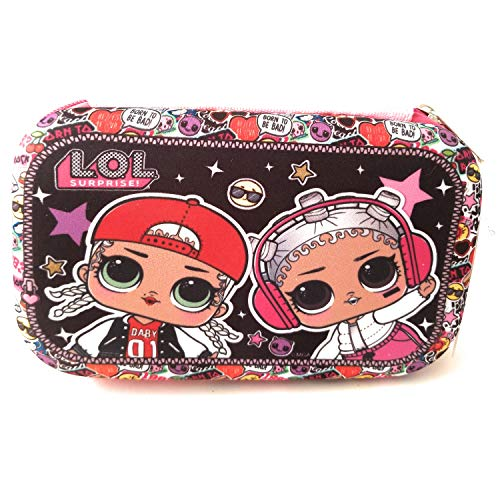 L.O.L. Surprise! Pencil Case - Hard Shell Molded Zippered Large School Supplies Storage Pouch Box, Big Colorful Makeup Cosmetic Pouch, Stationary Organizer, Multipurpose Multicolor