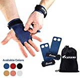 KAYANA 2 Hole Leather Gymnastics Hand Grips - Palm Protection and Wrist Support for Cross Training,...
