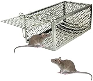 Skycabin Humane Live Animal Cage Trap,Rodent Cage Trap for Rat, Rodent, Mouse, Hamster,Weasel,Squirrel and More Small Rodents Indoor Outdoor Live Catcher  280X150X115MM