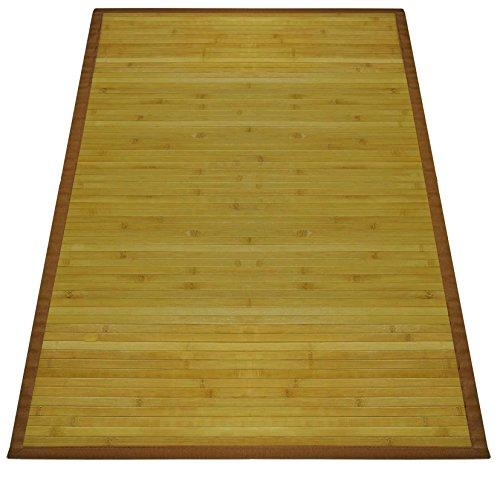 Casatessile Parquet Bambus Teppich in verschiedenen Größen. - Naturale, 60x120 cm.