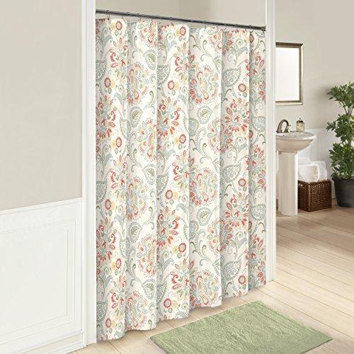 "MARBLE HILL Shower Curtains for Bathroom - Carlisle 72"" x 72"" Machine Washable Bath Curtains, Basil"