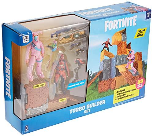 Fortnite Turbo Builder Set 2 Figure Pack, Rabbit Raider & Vertex
