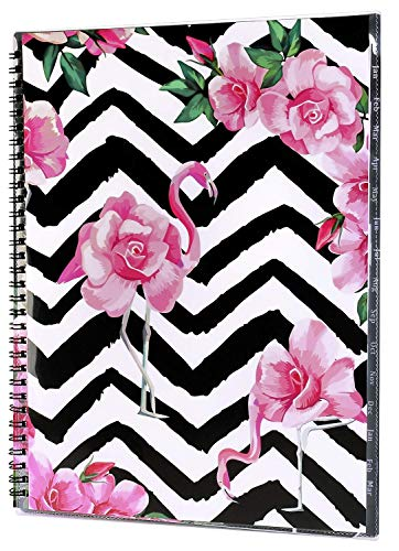 """2019 Monthly Planner - January 2019- March 2020 Monthly Planner with Tab Stickers, Contacts and Passwords pages, Thick Paper, Twin-Wire Binding with Clear Flexible Cover, 8.5"""" x 11"""" - Artfan"""