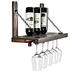 4.	WELLAND Karen Wall Mounted Wine Racks with Glass Holder