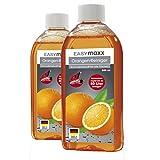 EASYmaxx Reinigungsmittel Allzweckreiniger Konzentrat original Orangenreiniger 3-tlg. 2x 500ml inkl. Sprühflasche Made in Germany (Version 2018)